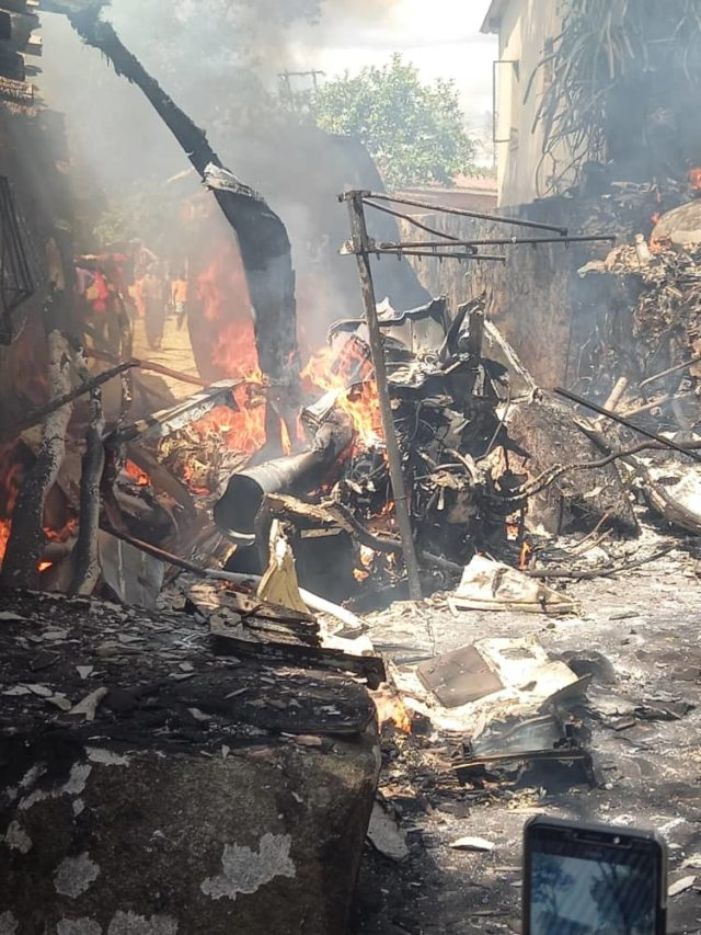 Helicopter Crashes In Residential Area In Ruwa