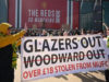Man United fans protest against Glazer family