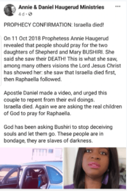 """""""Repent Or Your other Daughter Follows"""" - Prophet Bushiri Told"""