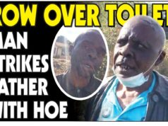Row Over Toilet...Son Strikes Father With A Hoe