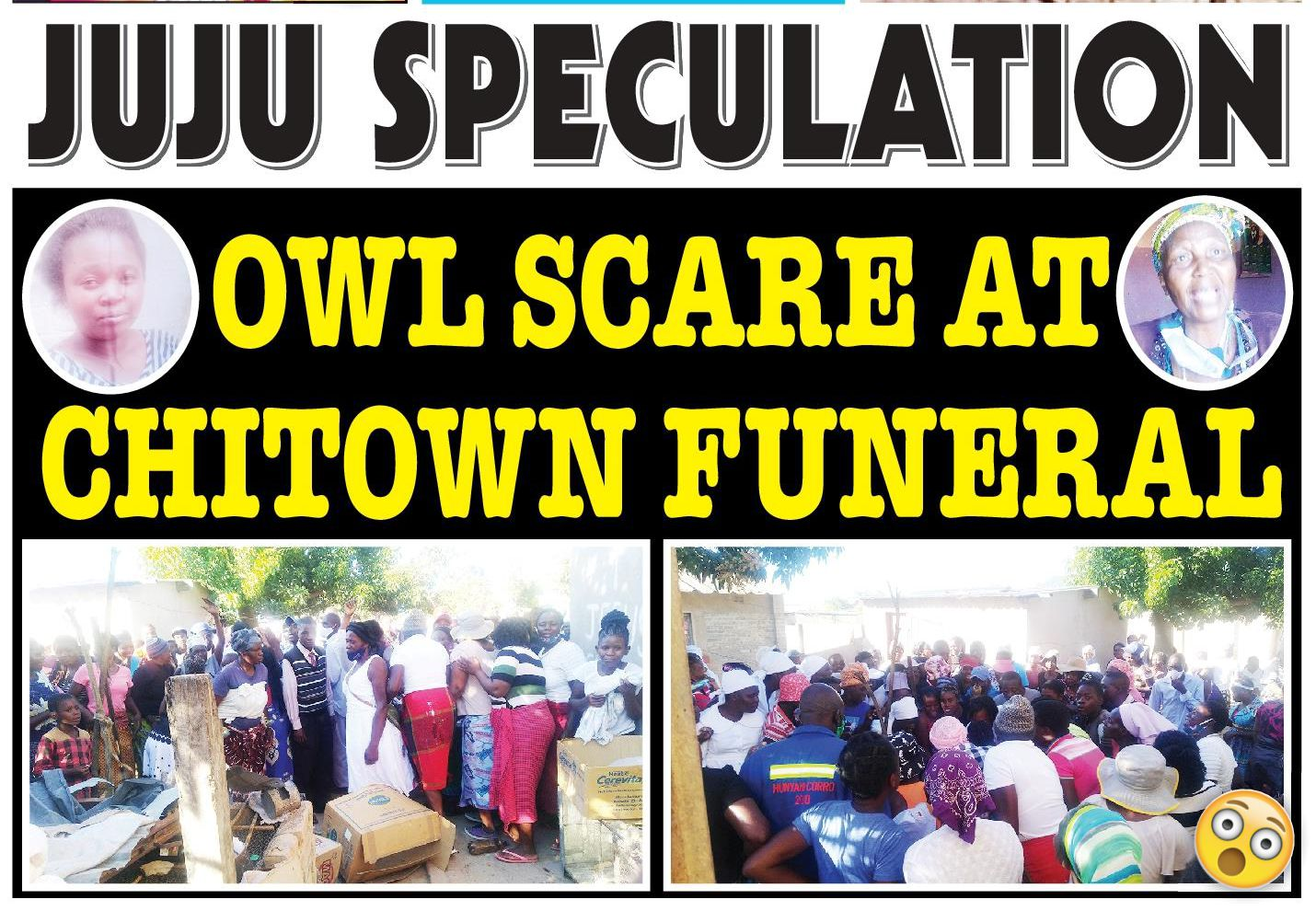 Chaos at Chitungwiza Funeral - Mourners destroy fowl run in search of OWL