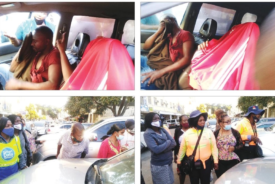 Fed Up Woman Bashes Cheating Lover in Harare CBD