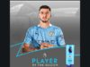 Manchester City defender, Ruben Dias has been named Premier League player of the year 2020/21 ahead of a number of stars including teammate Kevin De Bruyne.