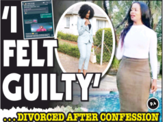 Woman divorced after confessing to cheating
